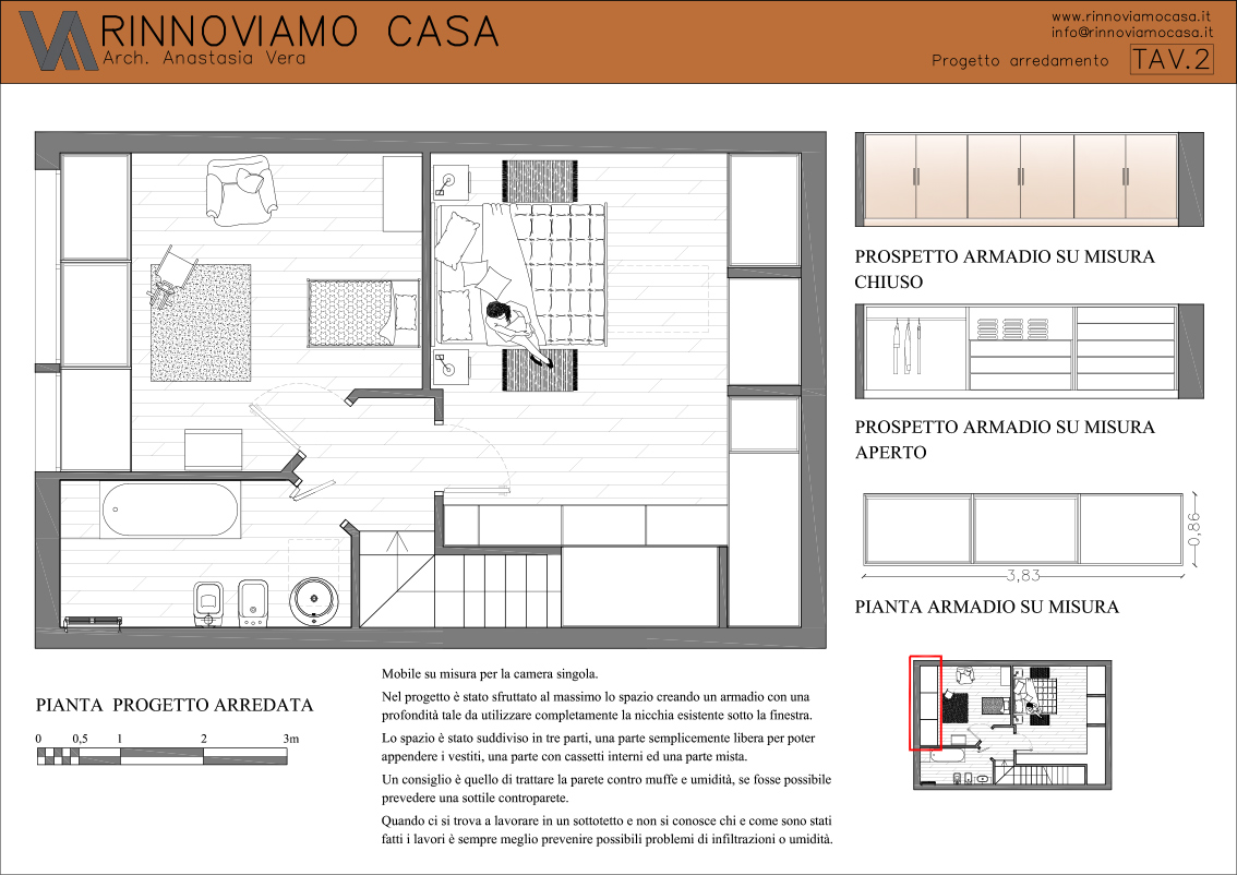 Preferenza Progetto su misura - Rinnoviamo Casa - Consulenza Architettonica e  WC07